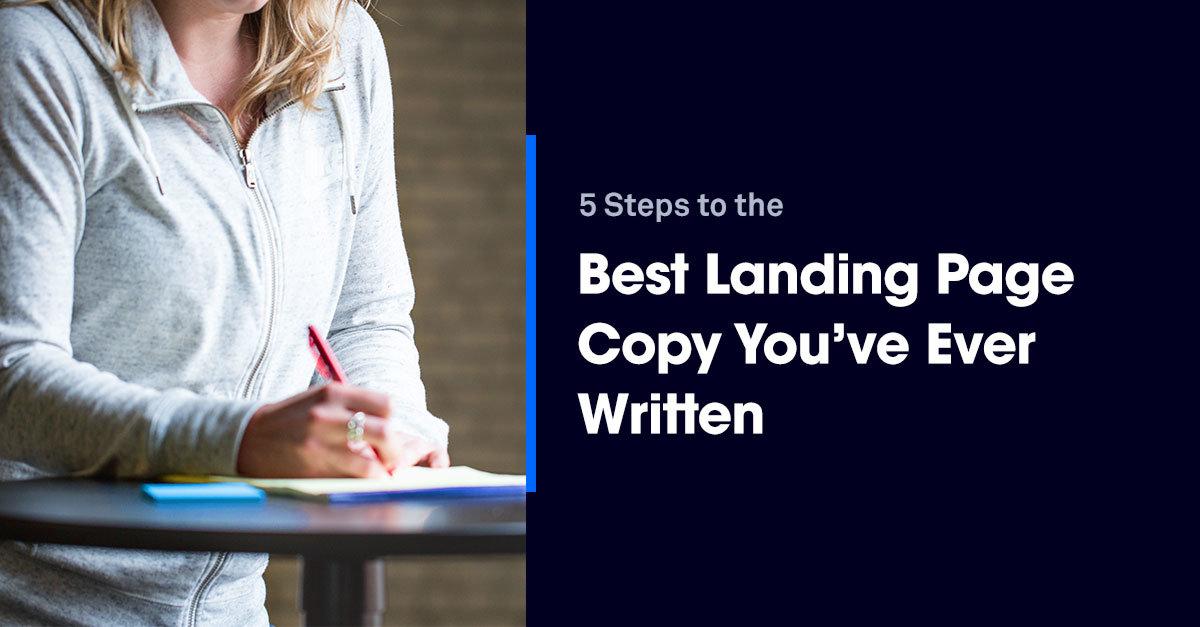 5 steps best landing page copy ever written title image