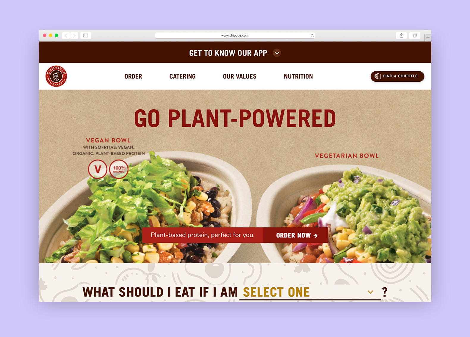 chipotle browser example