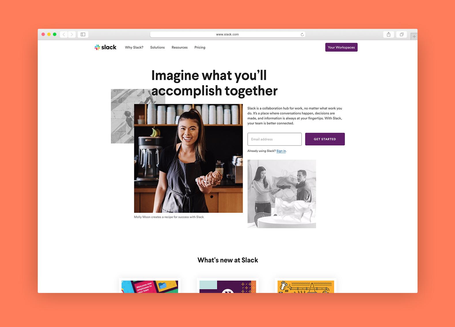slack browser example