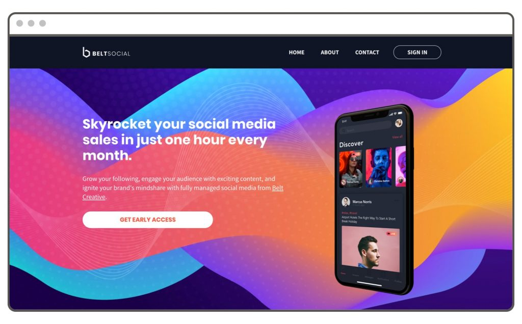 BeltSocial - Leadpages Website Example