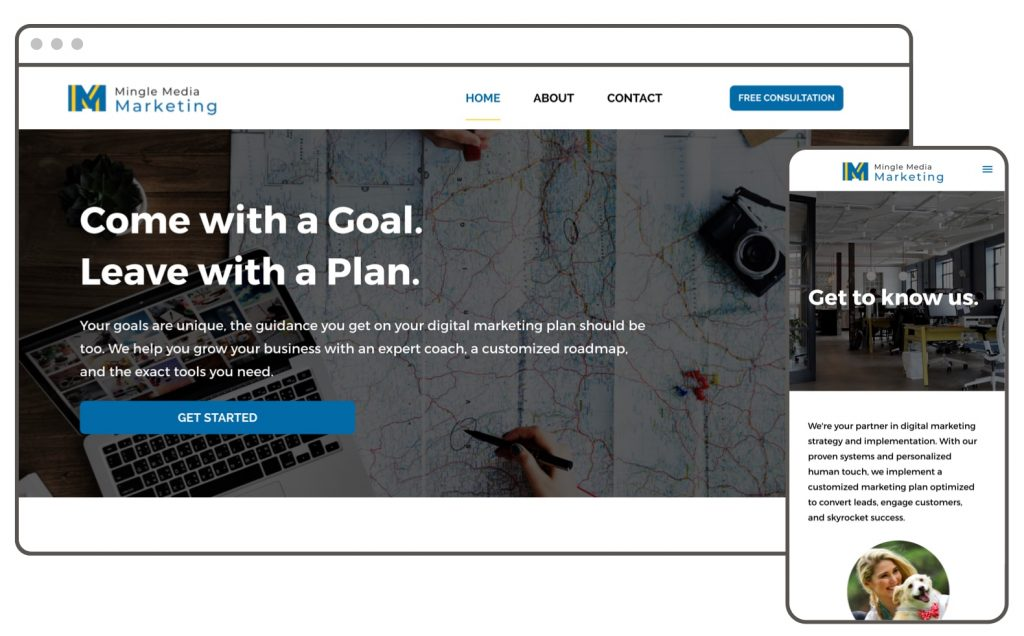 Marketing Agency Website Builder Example Leadpages