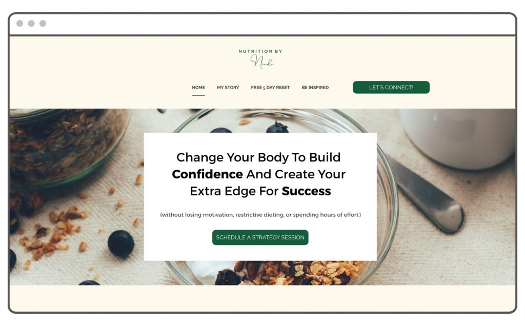 Nutrition Wellness Website Builder Leadpages