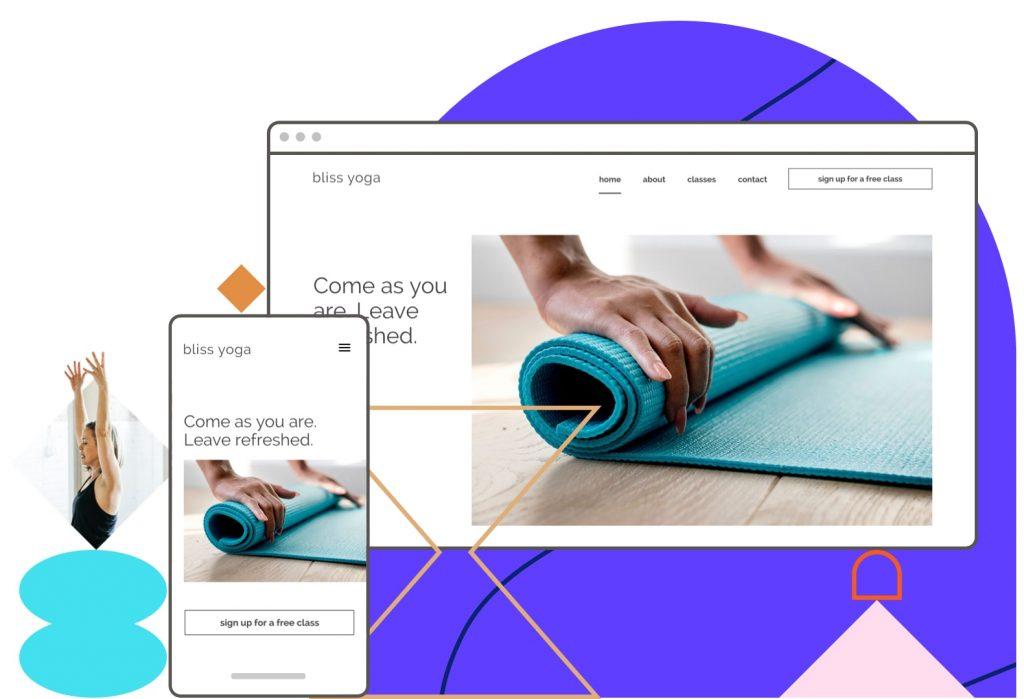 Leadpages Sites - software with mobile-responsive templates for building websites