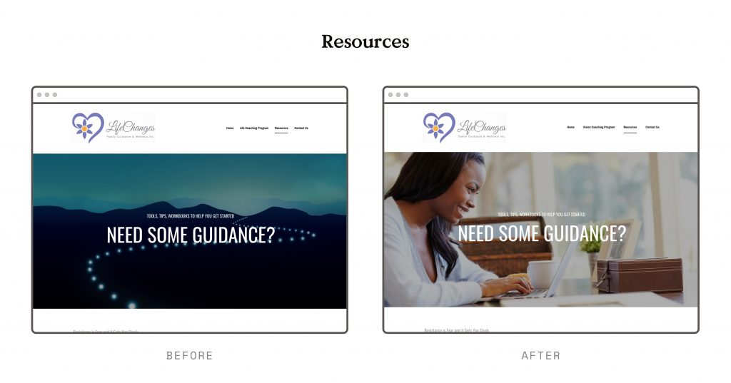 Shutterstock leadpages website example