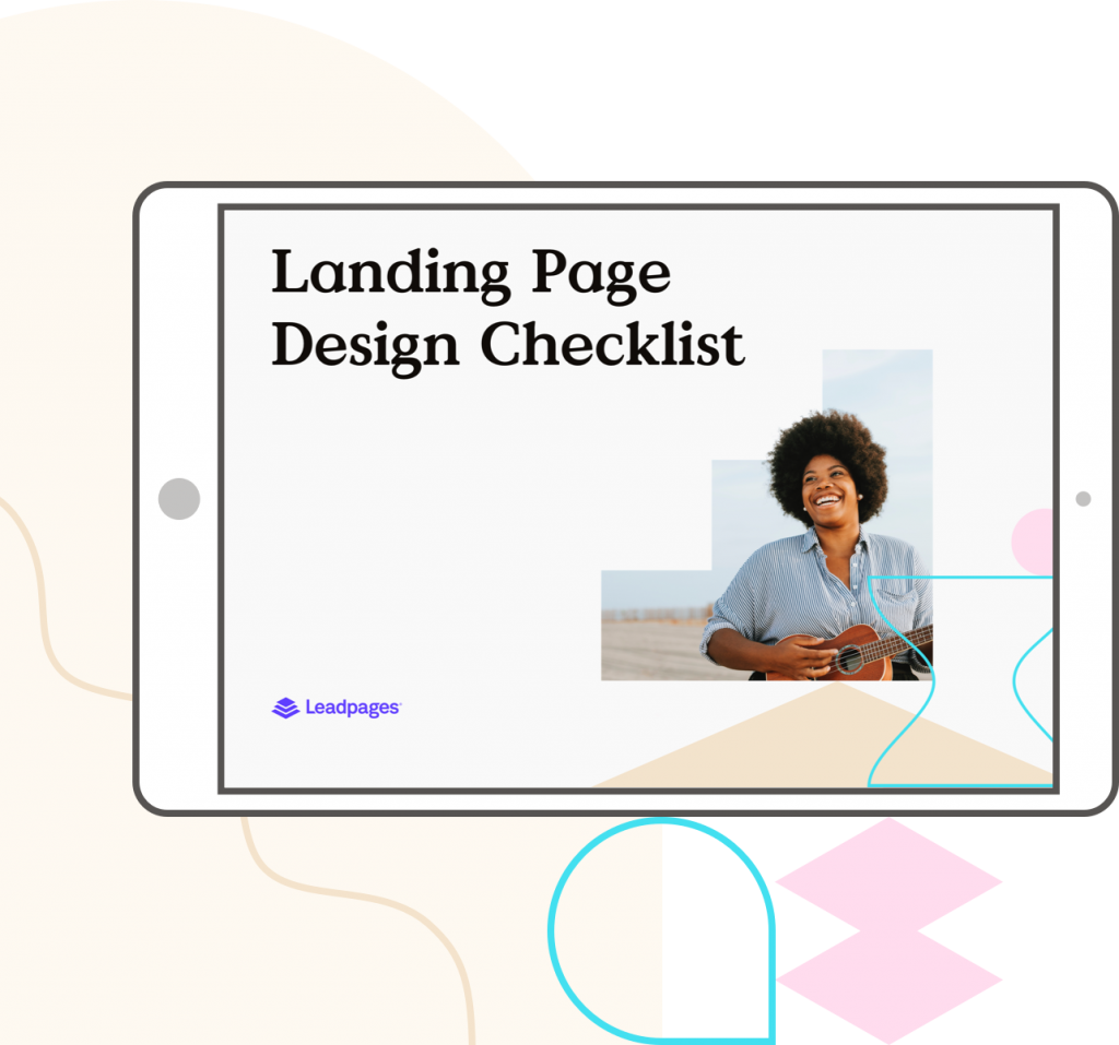 Landing Page Design Checklist from Leadpages