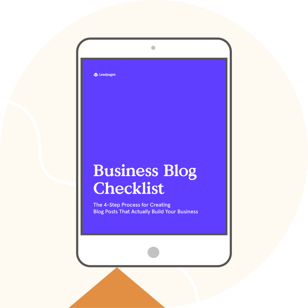 checklist for building a business blog