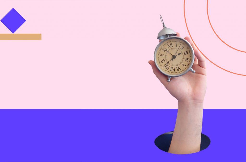 Hand holding timer