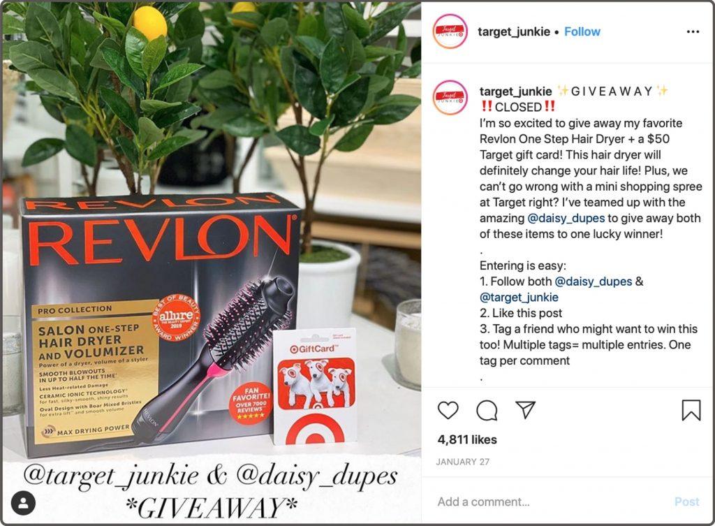 Revlon Instagram Post
