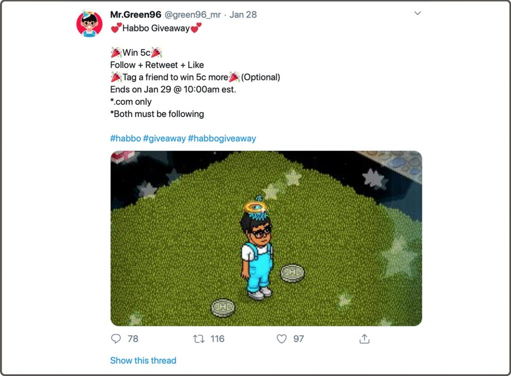 Habbo Giveaway
