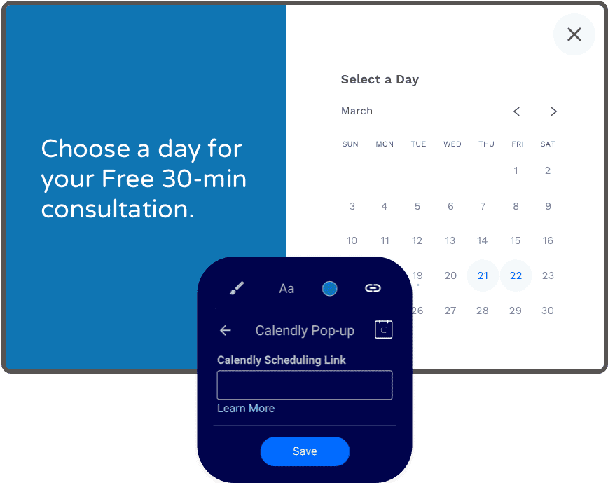 use leadpages calendly scheduling