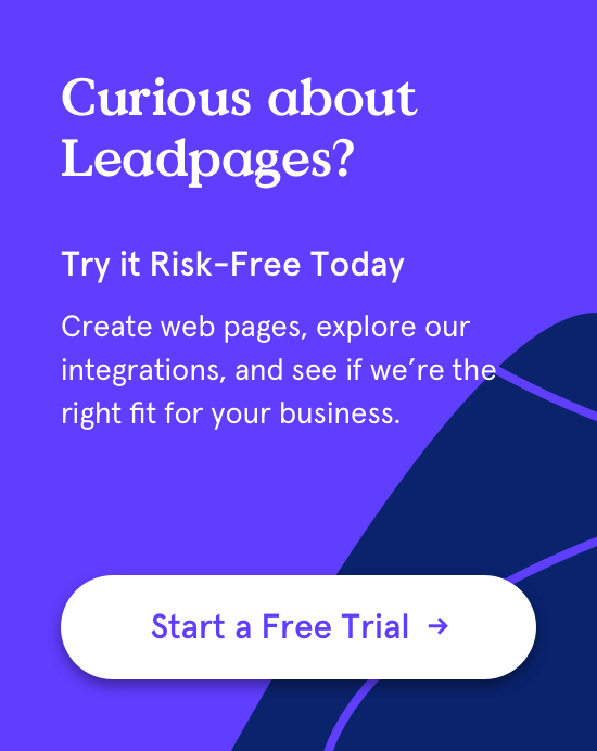 Try Leadpages Free - Start free trial