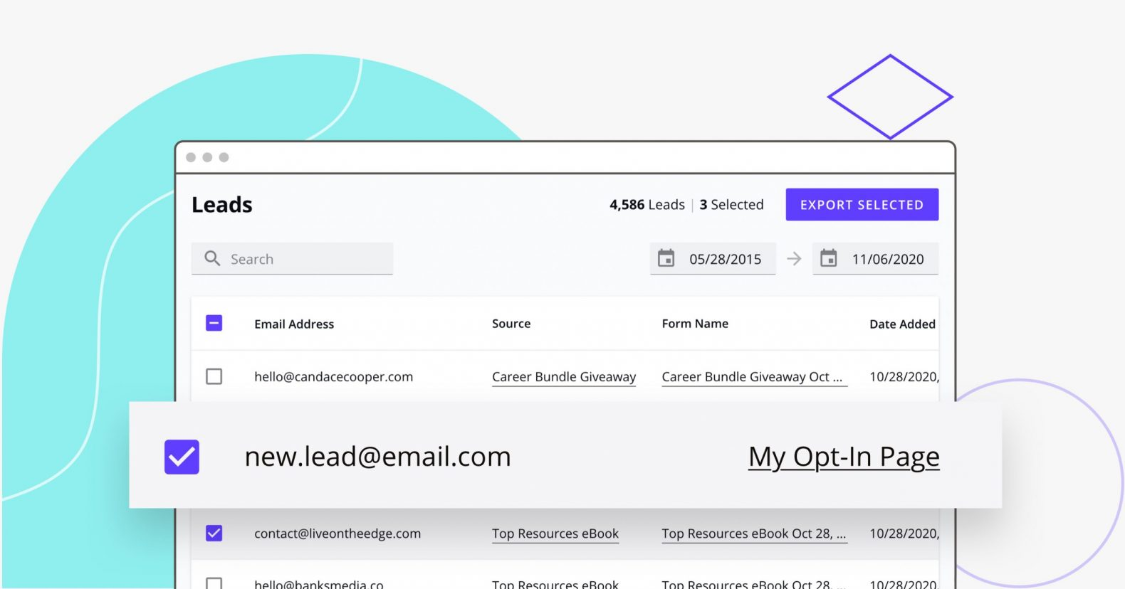 Leadpages Lead Library in action
