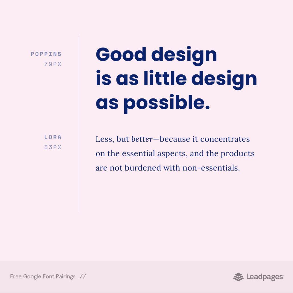 best google fonts poppins lora