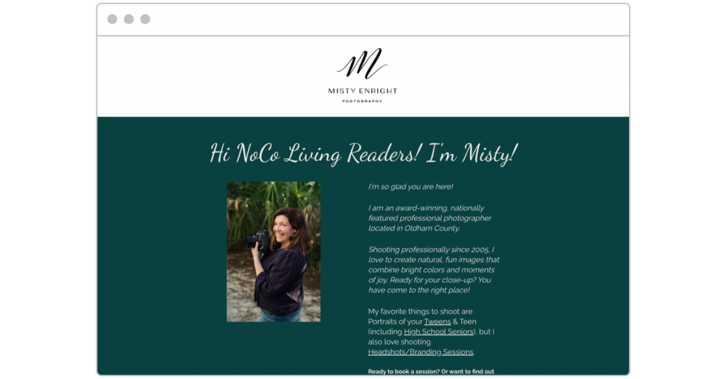 free consultation Misty Enright landing page