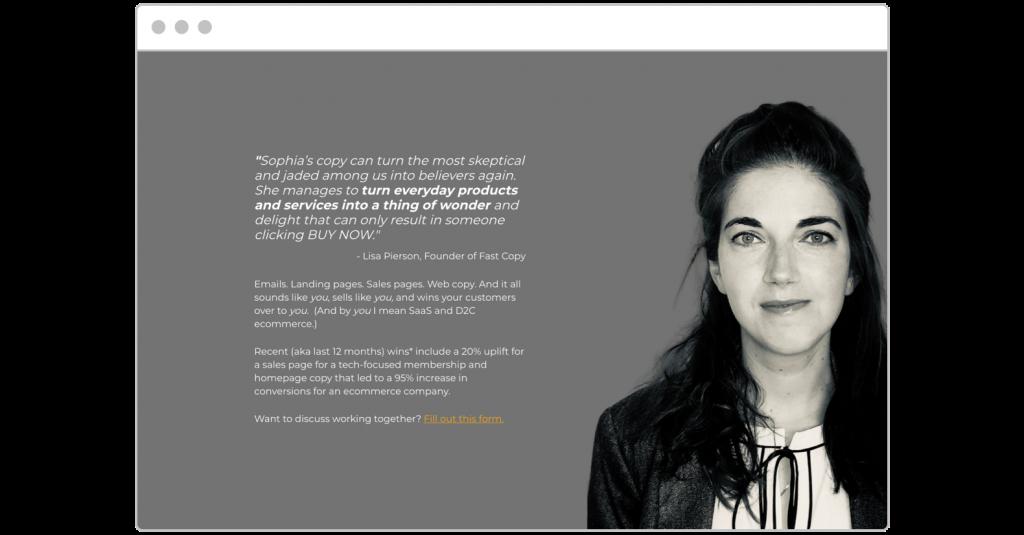 free consultation Sophia Dagnon landing page