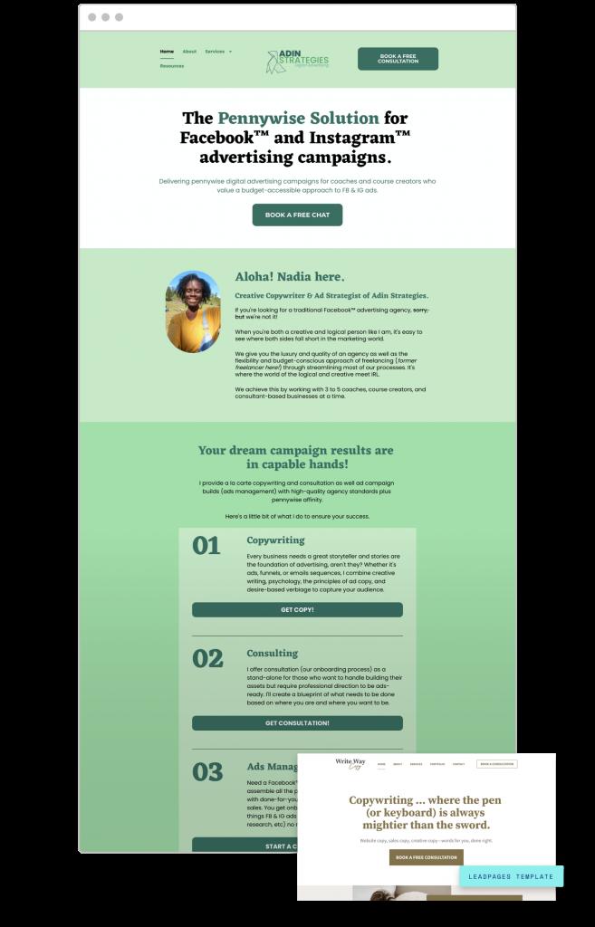 website creators Adin Strategies - Strategy + Writing Services