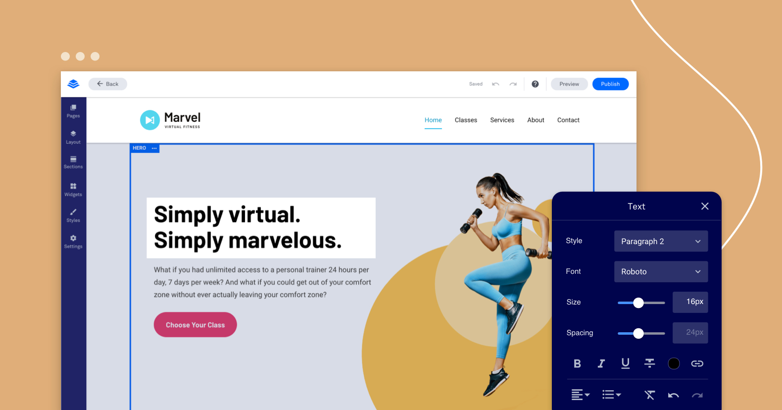 build your own website Leadpages website builder text modal