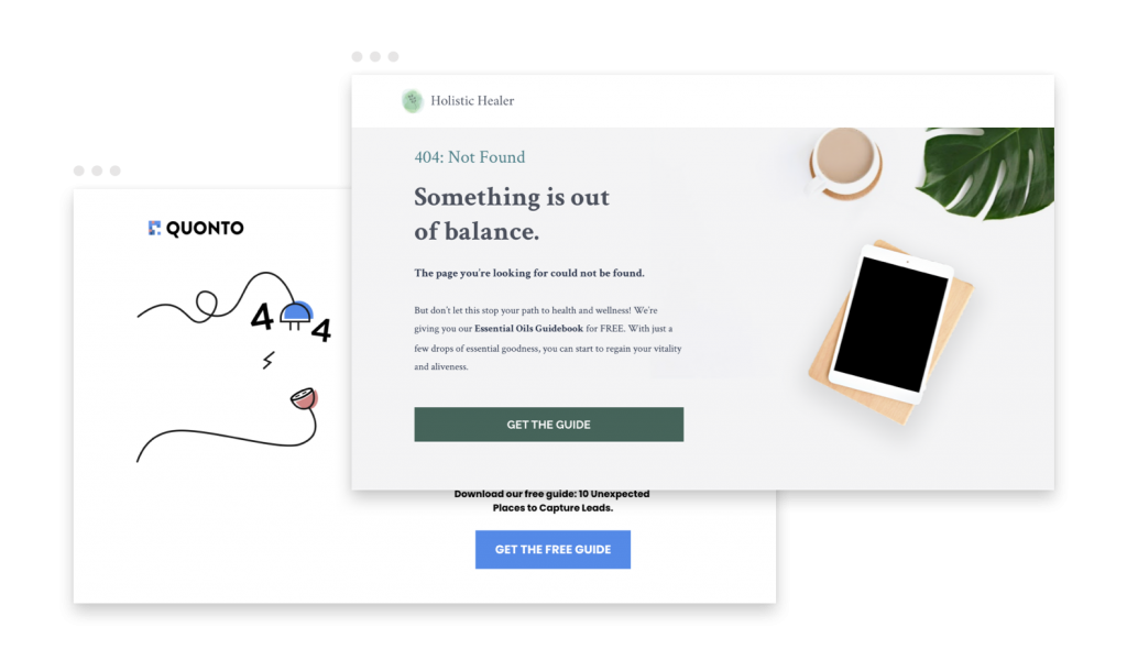 build your own website Leadpages 404 templates