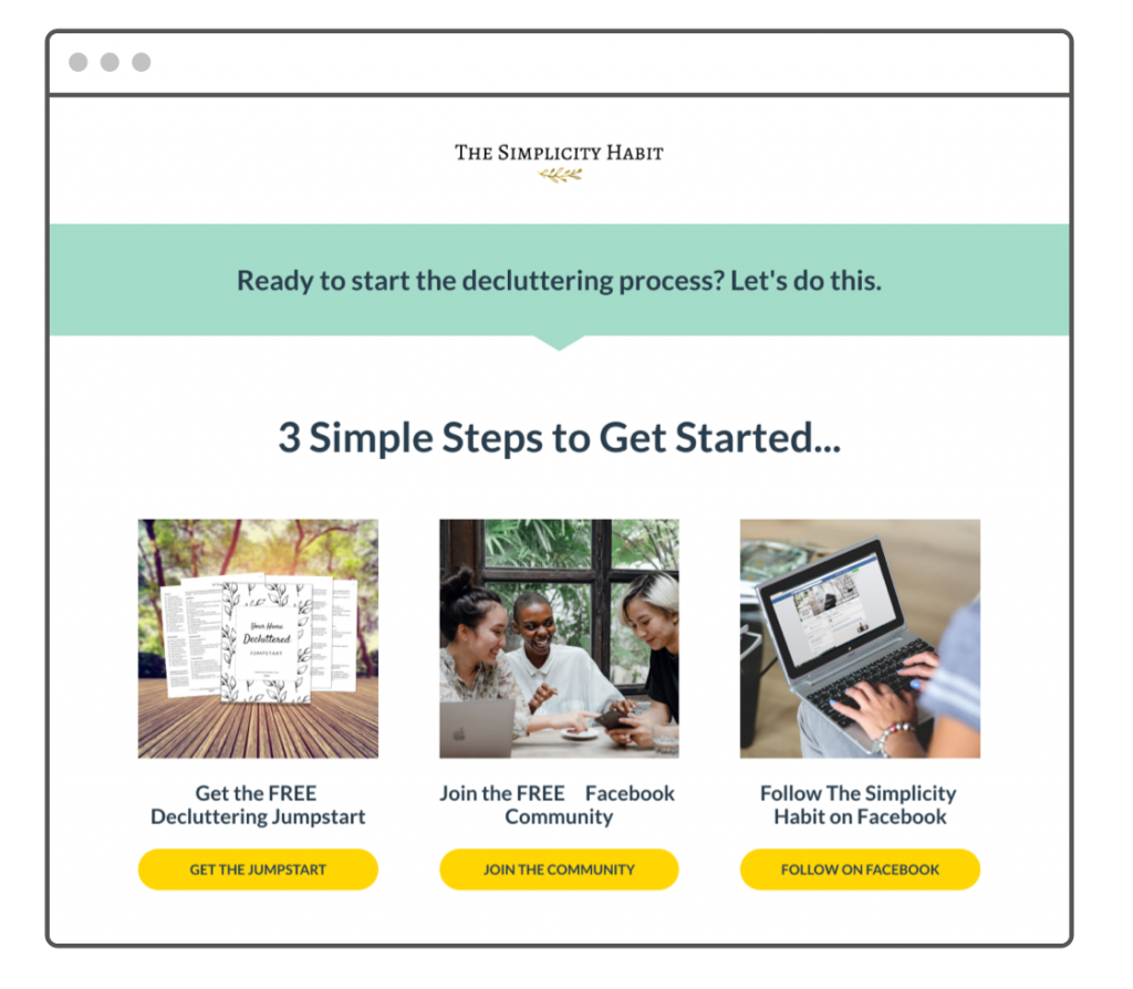 Learn how the Simplicity Habit doubled their email list