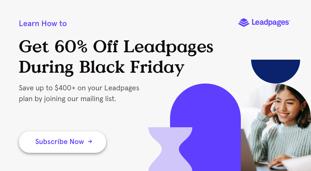 Get 60% Off Leadpages