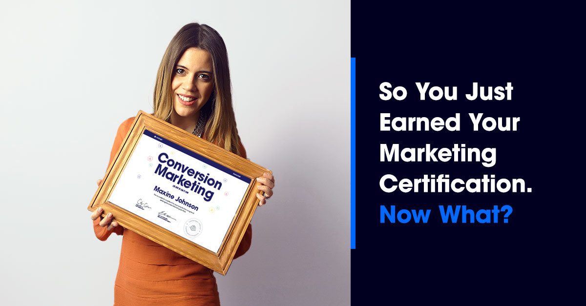 What Do You Do with a Marketing Certification?