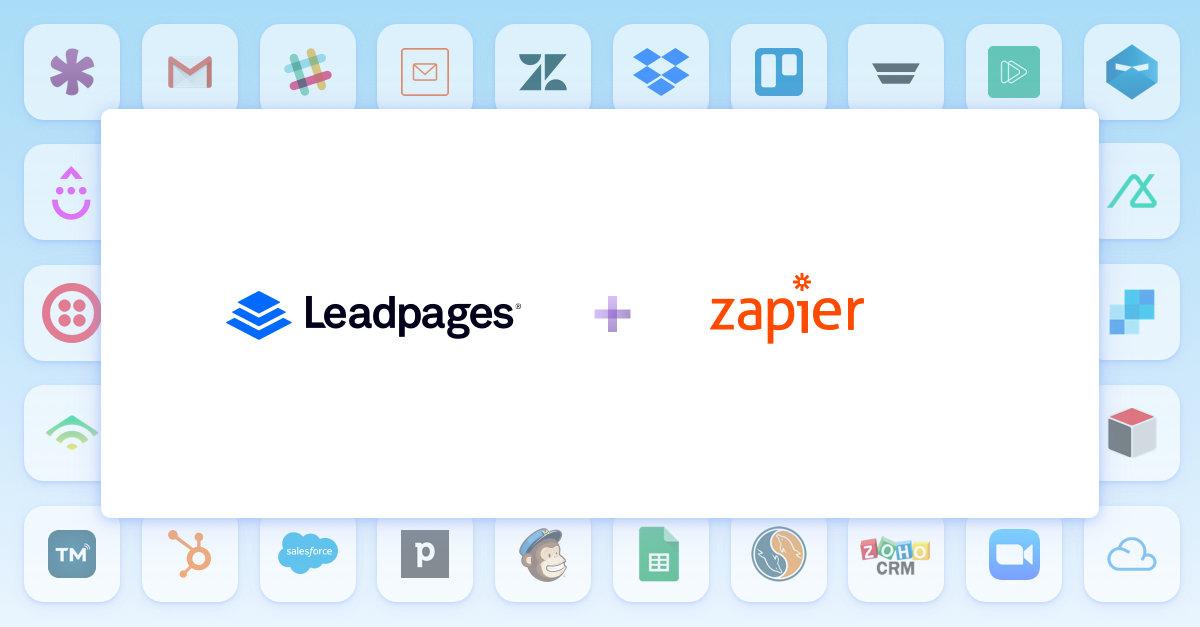 Leadpages Zapier Integration Announcement