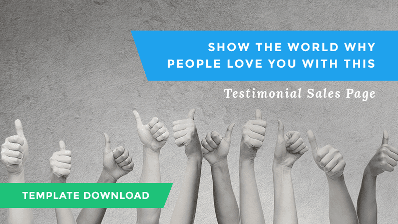 Introducing a testimonials page that actually works to get you sales
